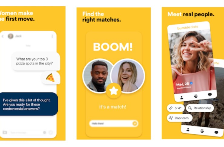 Bumble Dating Friends Android App.