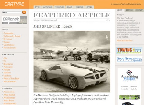 Cartype : A museum of automobile typography