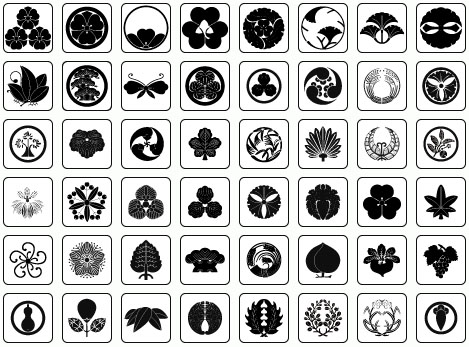 Free Vector Files: Japanese Crests – Kamon – Motifs