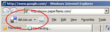 Internet Explorer - Delicious Tag