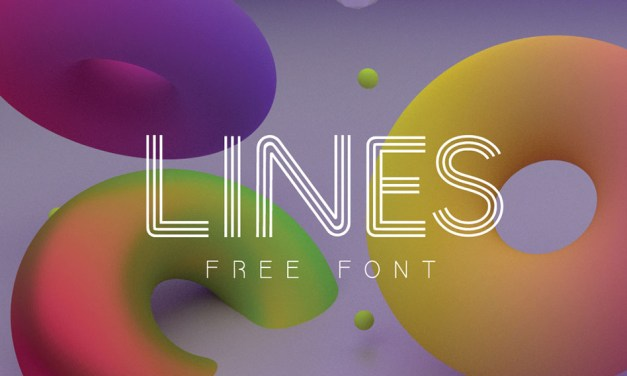 LINES FONT : FREE