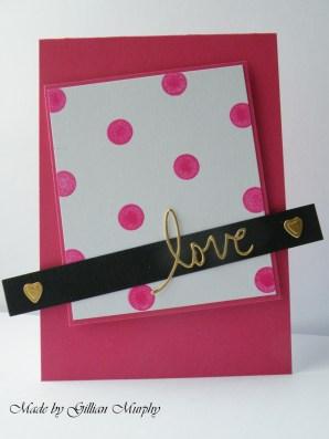 dotty pink love