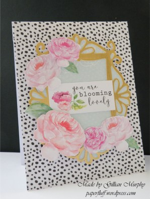 cwc heritage rose black dotty card reverse