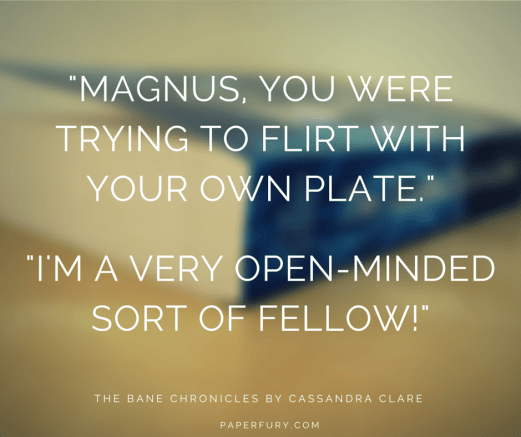 -Magnus, you were trying to flirt with (1)
