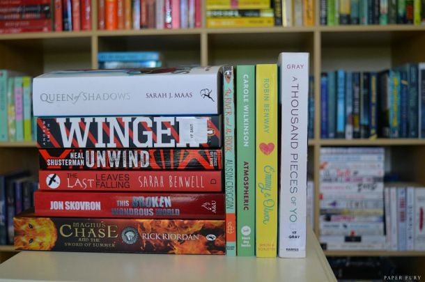 book stack - august 2