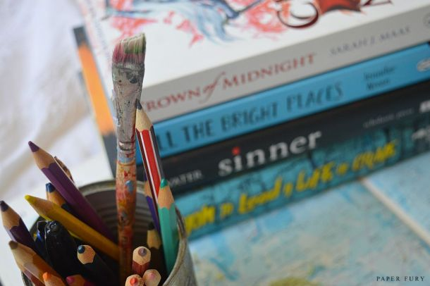 book stack + paint
