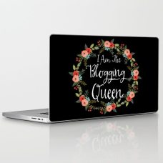 i-am-the-blogging-queen-laptop-skins