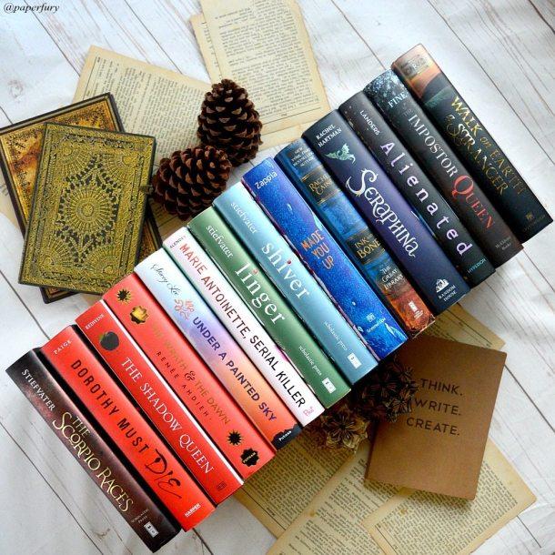 line of books rainbow books