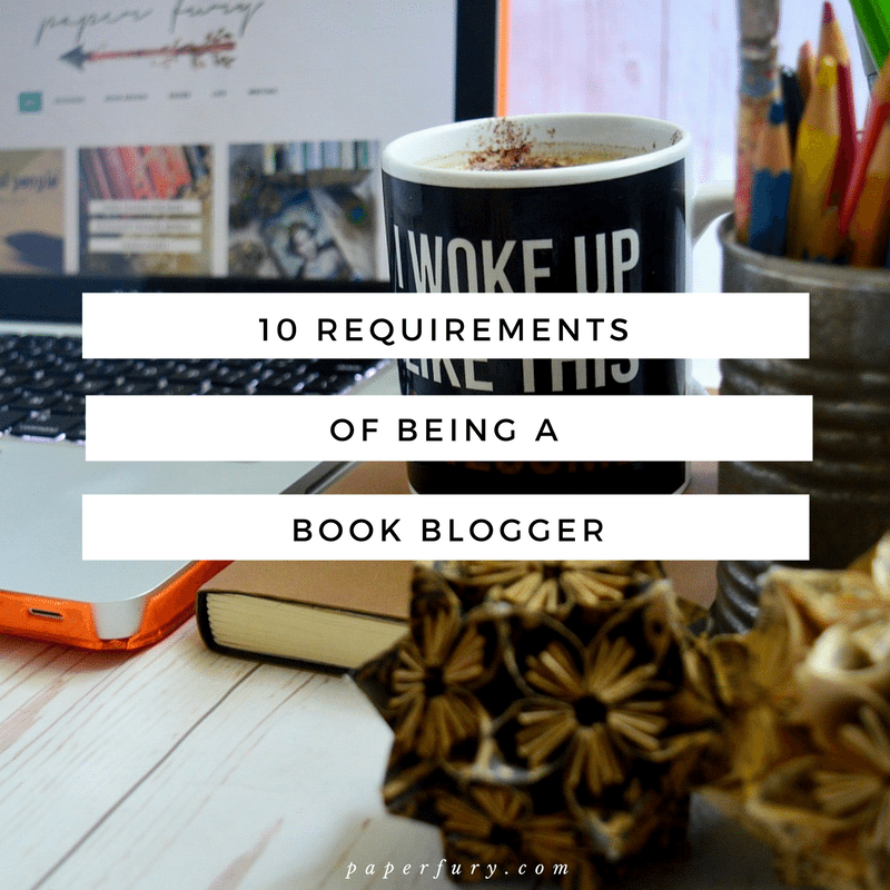 requirements of being a book blogger