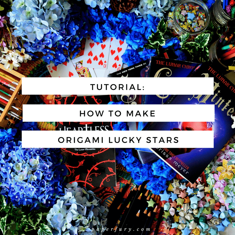 Tutorial how to make origami lucky stars for bookstagram for How to make lucky paper stars