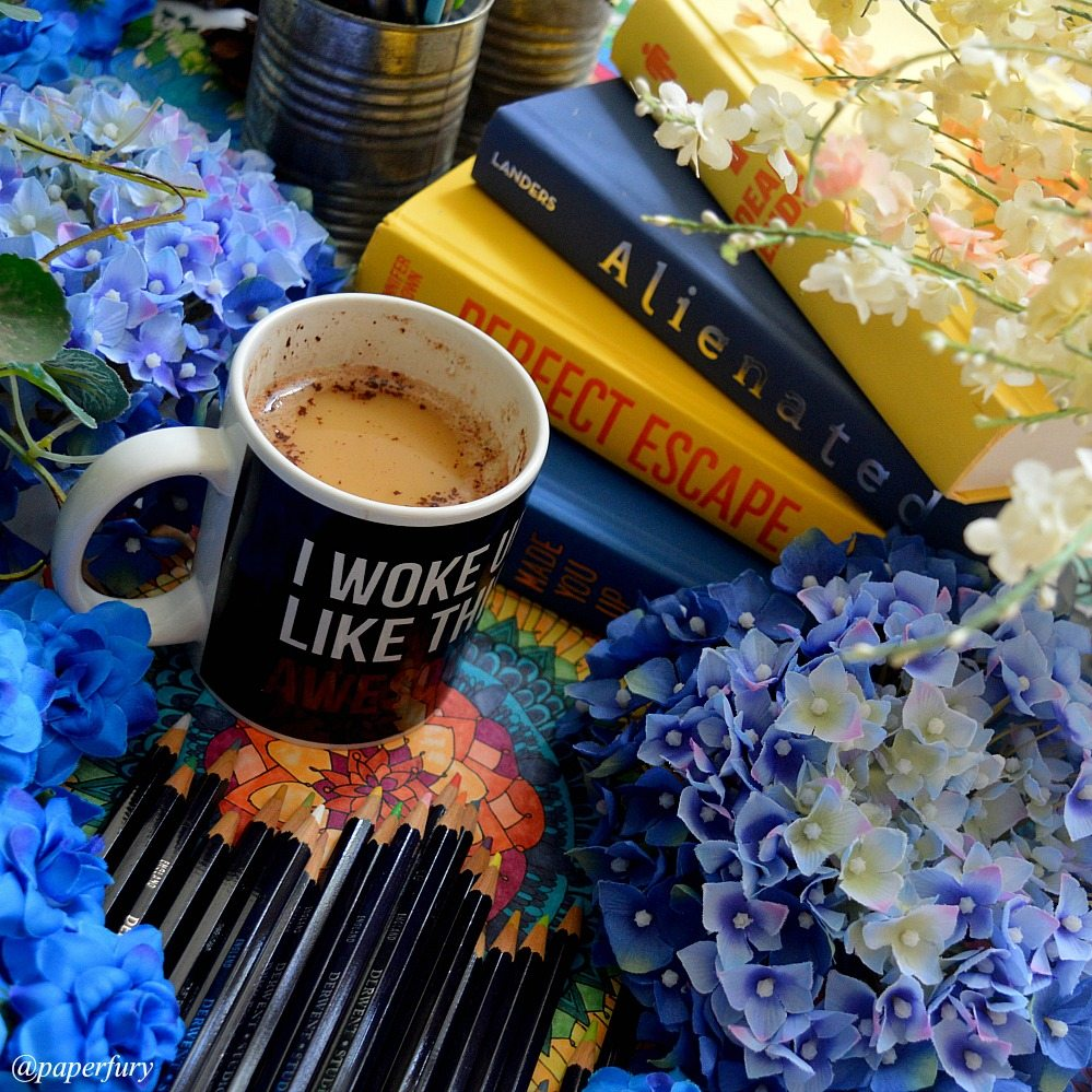yellow-blue-books-and-mug