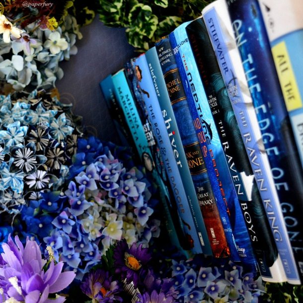blue-book-stack