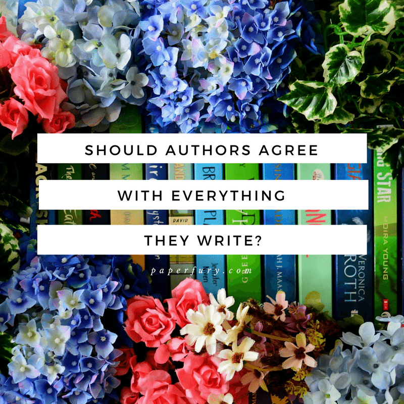 should authors agree with everything they write