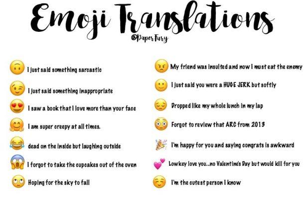 The Emoji Book Tag + Emoji Translations That Totally Make Sense (If