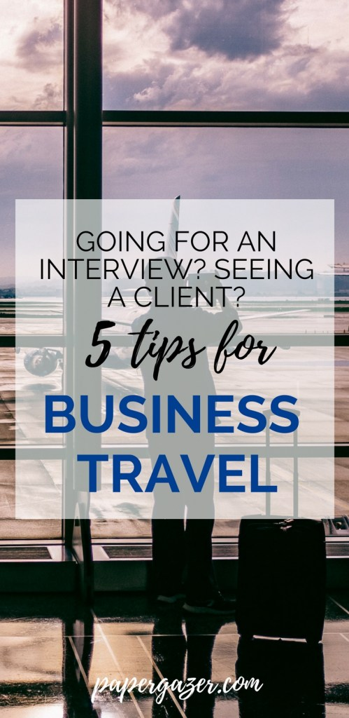 Landed an interview? Going through recruiting at business school? Is a company flying you somewhere for just a day? Here are some great tips for professional travel. Good for the working woman and the business man!