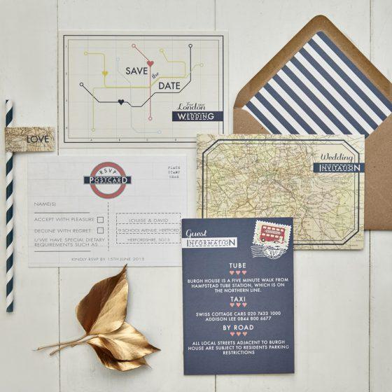 vintage london_Wedding Stationery