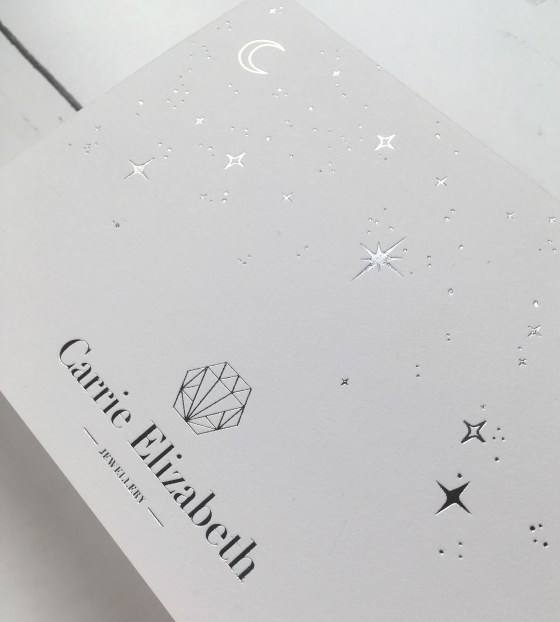 Celestial silver foil cards