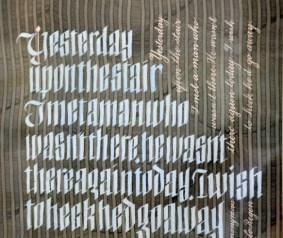 Calligraphy by Lilo Regen