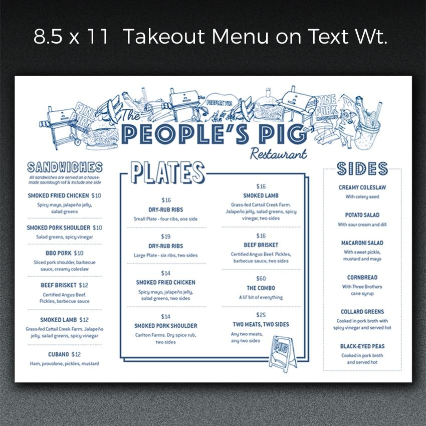 menus menu printing paperjam a sweet mix of print design pdx