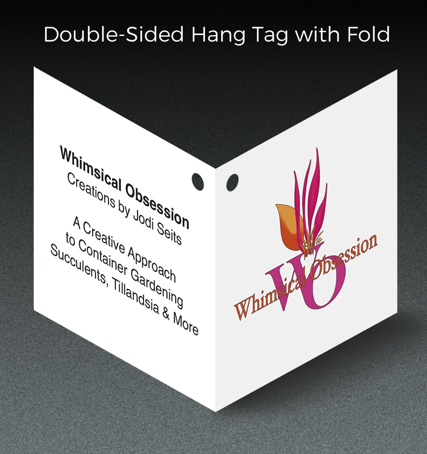 double sided hand tag