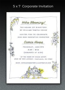 William Temple Invitation -designed by Diana Kolsky