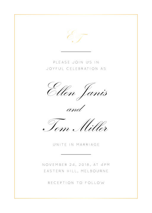 Formal Wedding Invitations Customize Print Online