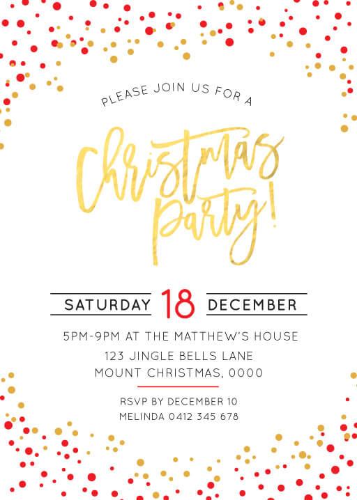 FESTIVE CHRISTMAS MP Christmas Party Invitations