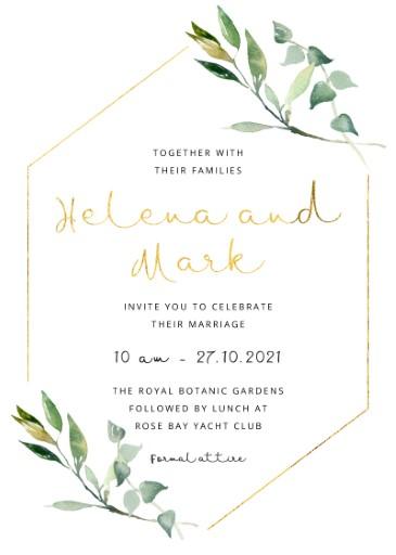Marriage Invitation Card Sample