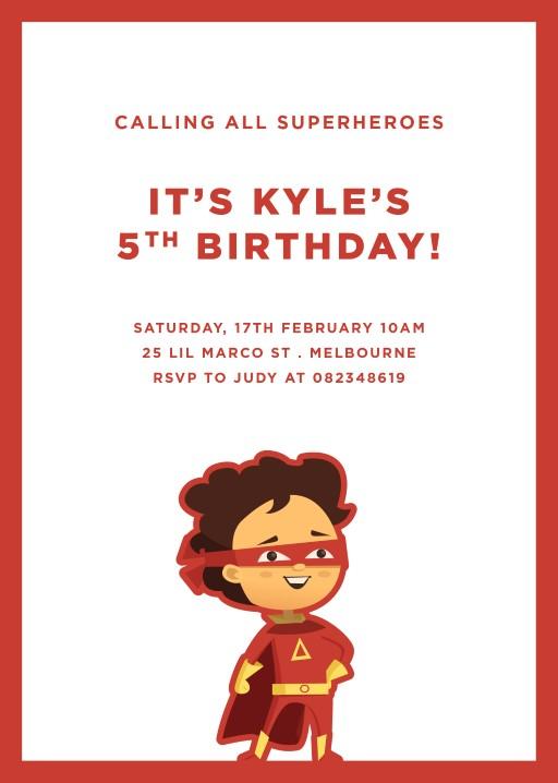 6th birthday invitation card for boy