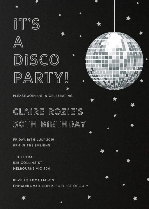 Birthday Party Card Design
