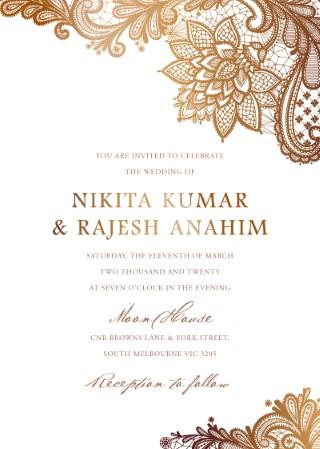 Wedding Invitations Indian