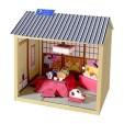 Maqueta 3D de casa de estilo japonés (Invierno Primavera). Manualidades a Raudales.