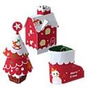 papercraft infantil imprimible de un conjunto de adornos navideños. Manualidades a Raudales.