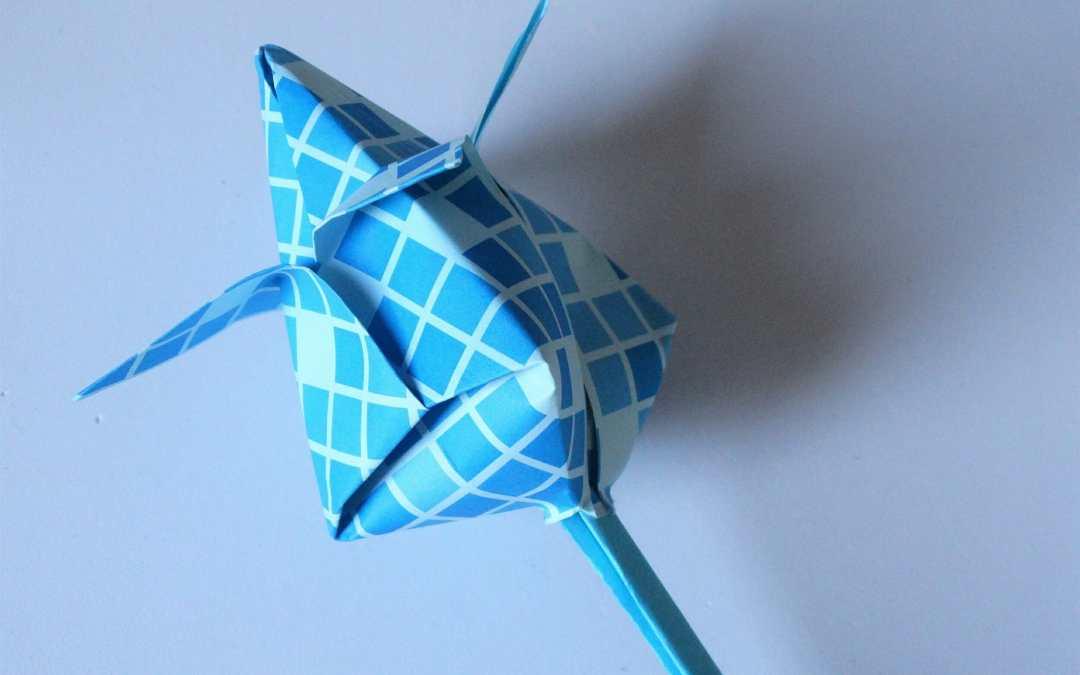 Tulipán en Origami – Flor de papel
