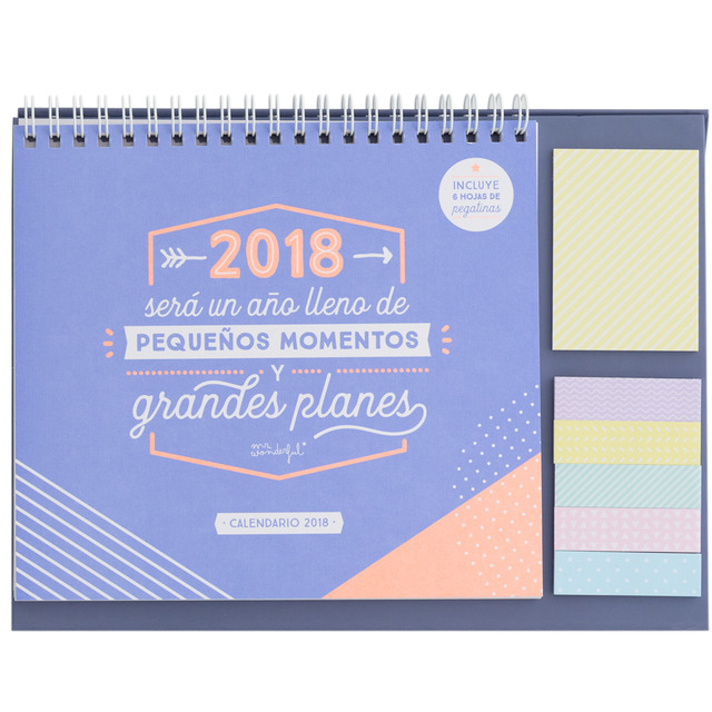 calendario sobremesa Mr. Wonderful
