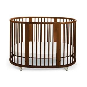 Stokke-Sleepi-crib-brown-for-rent-1