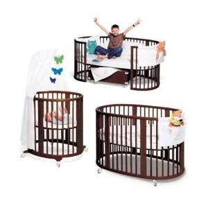 Stokke-Sleepi-crib-brown-for-rent-3