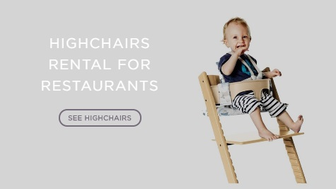 high chairs rental for restaurants