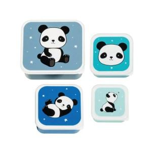 A Little Lovely Company Lunch & Snack Box Set Panda