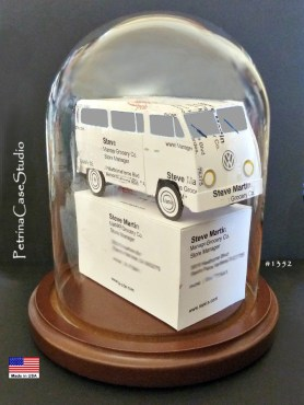 VW Bus Business Card Sculpture