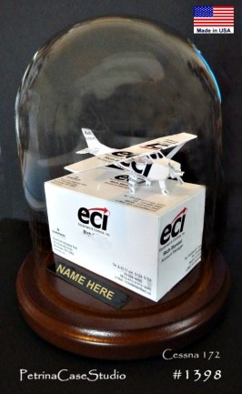 Cessna 172 Business Crad Sculpture