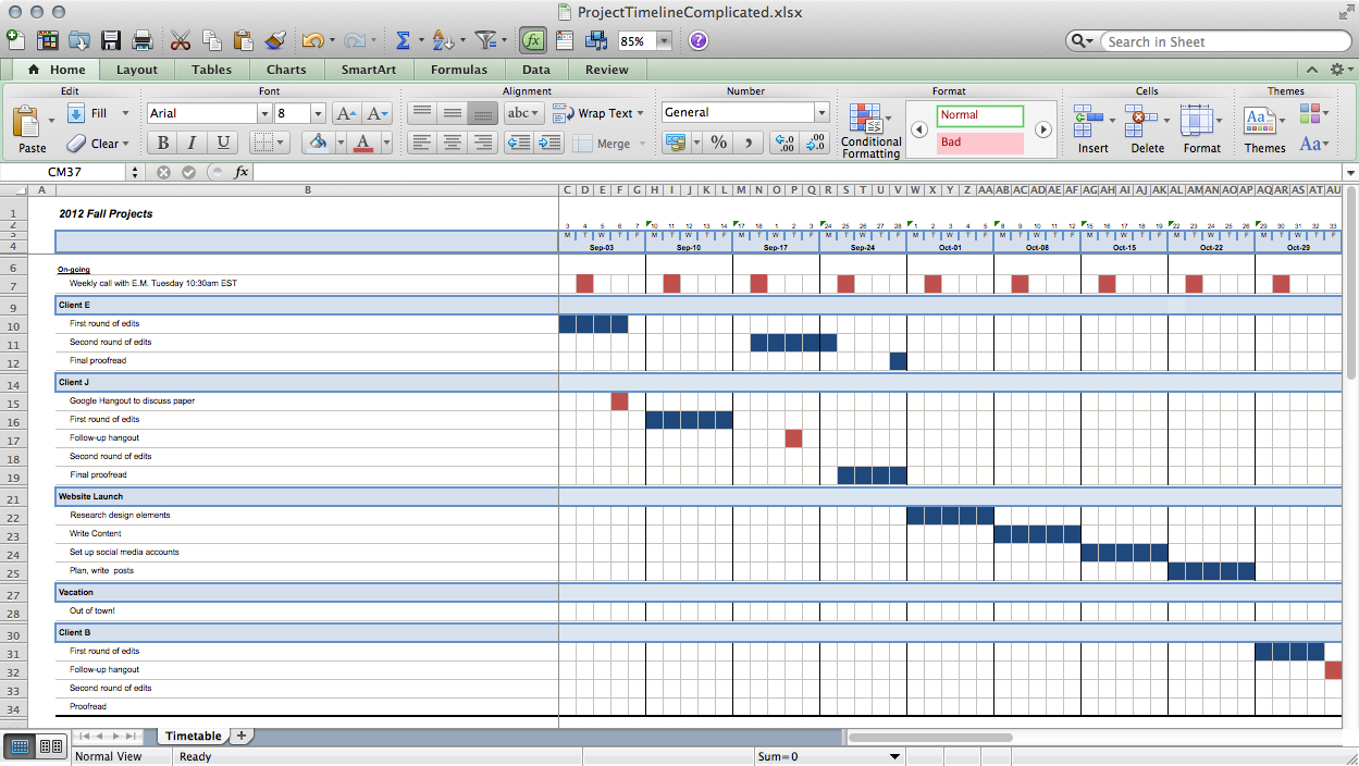 There are even timeline templates for your … Track Projects In Excel Like A Ninja Paper Raven Books