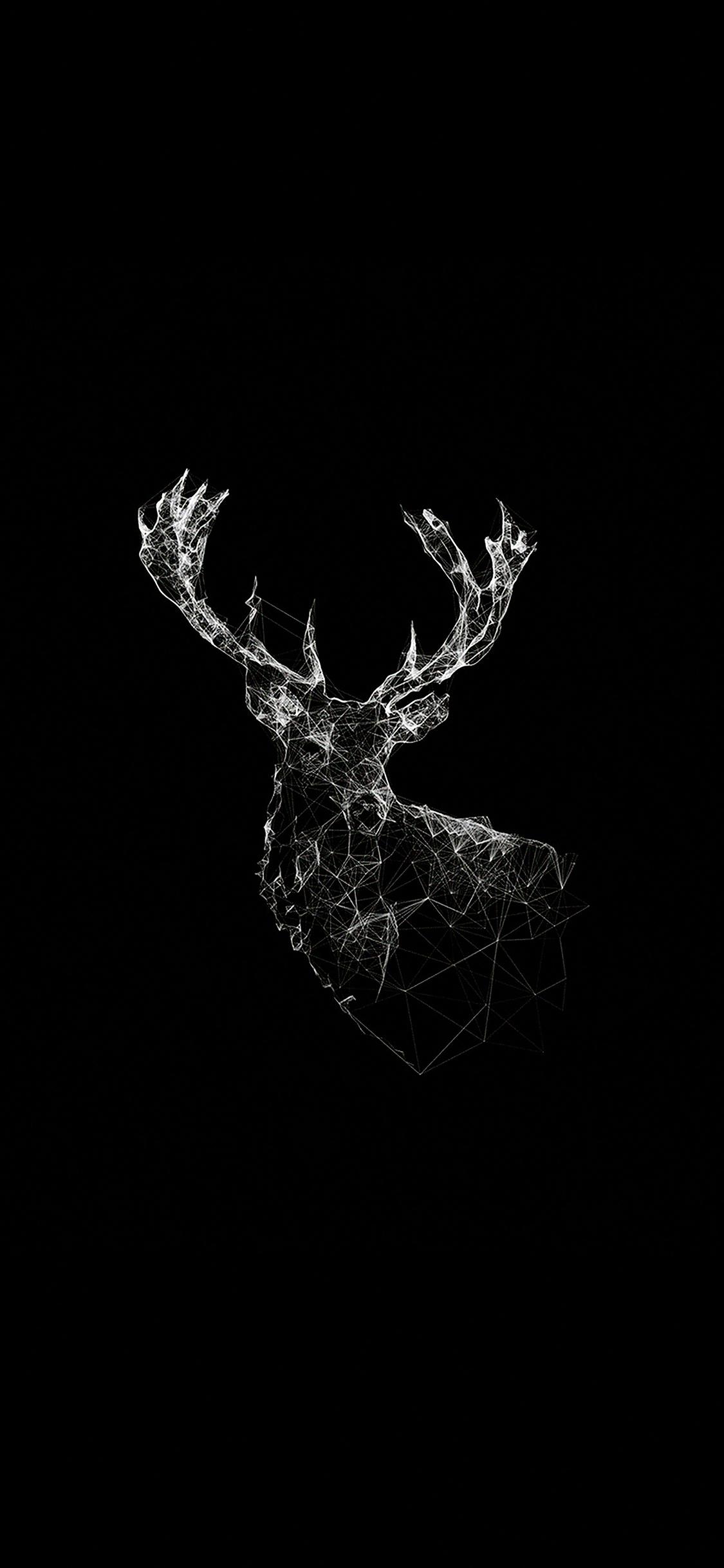 Ad29 Deer Animal Illust Dark