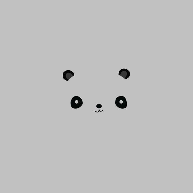 Ag16 Cute Minimal Panda Il Art