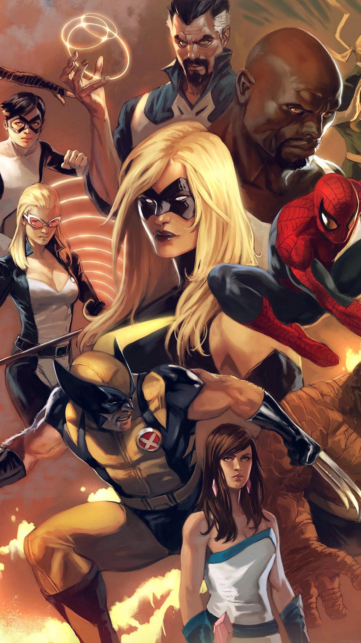IPhone Wallpaper Al80 Avengers Liiust Comics