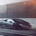 Aq50 Lamborghini Huracan Vellano Matte Black Car Flare Wallpaper