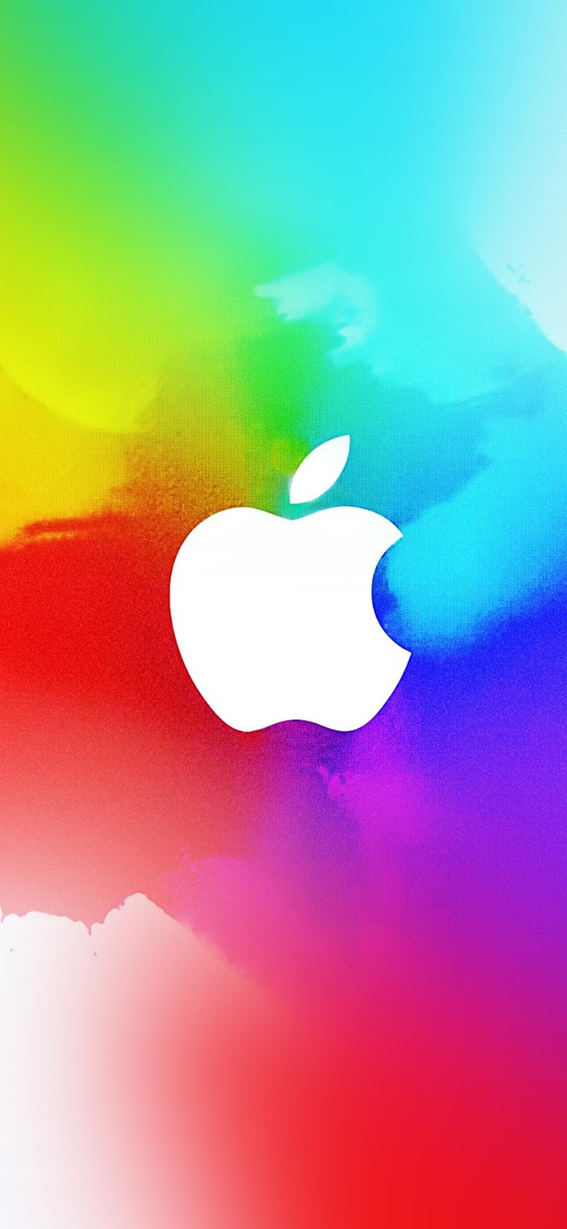 Ay37 Apple Logo Splash Color Paint Illustration Art Wallpaper
