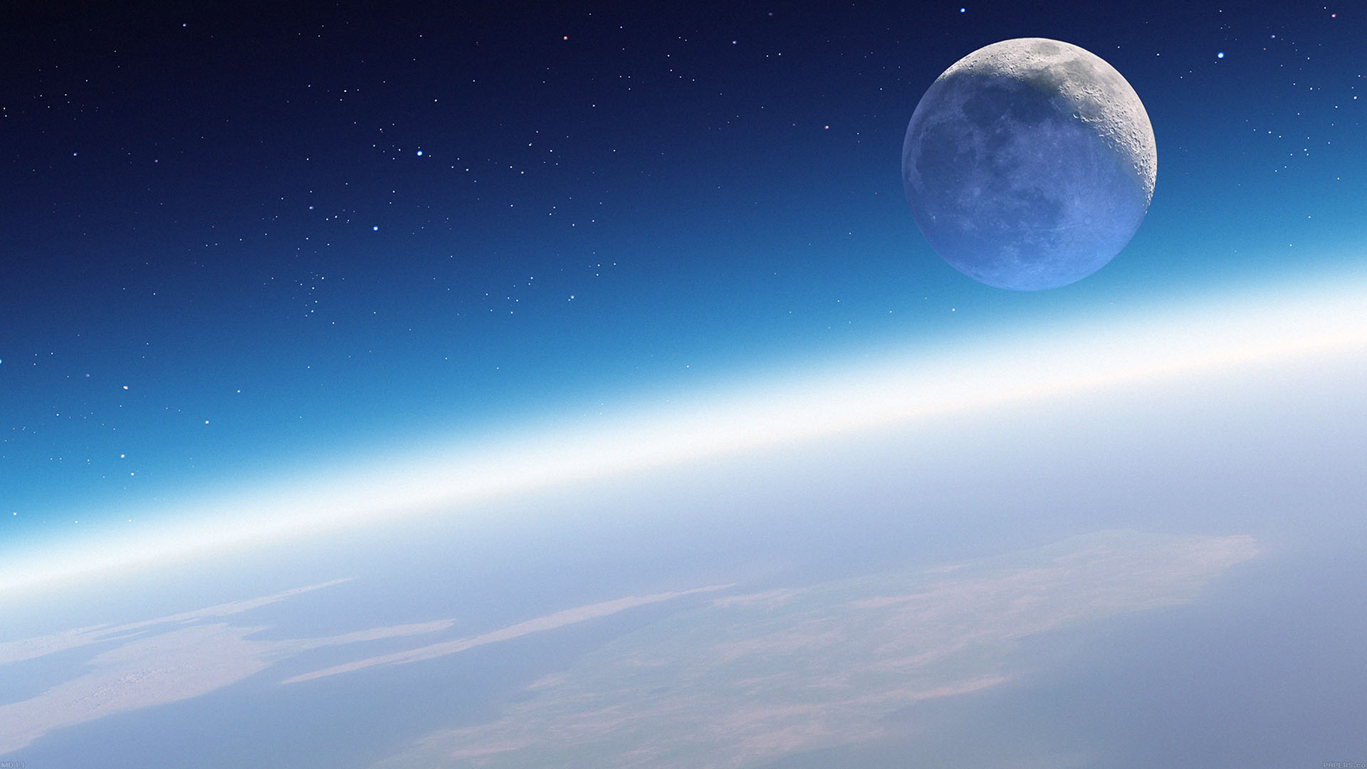 Md13 Wallpaper Earth Horizon In Space