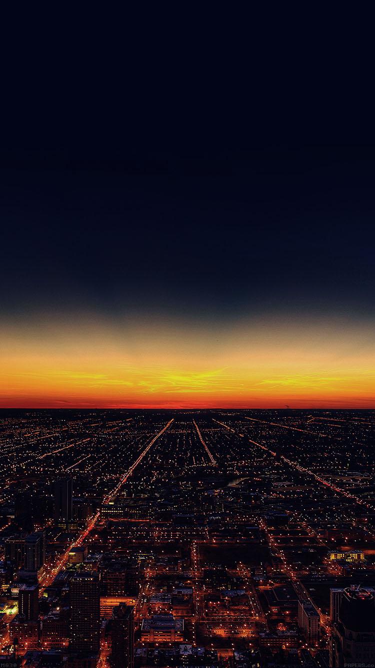 Mg30 Night Sky Flying Sunset City
