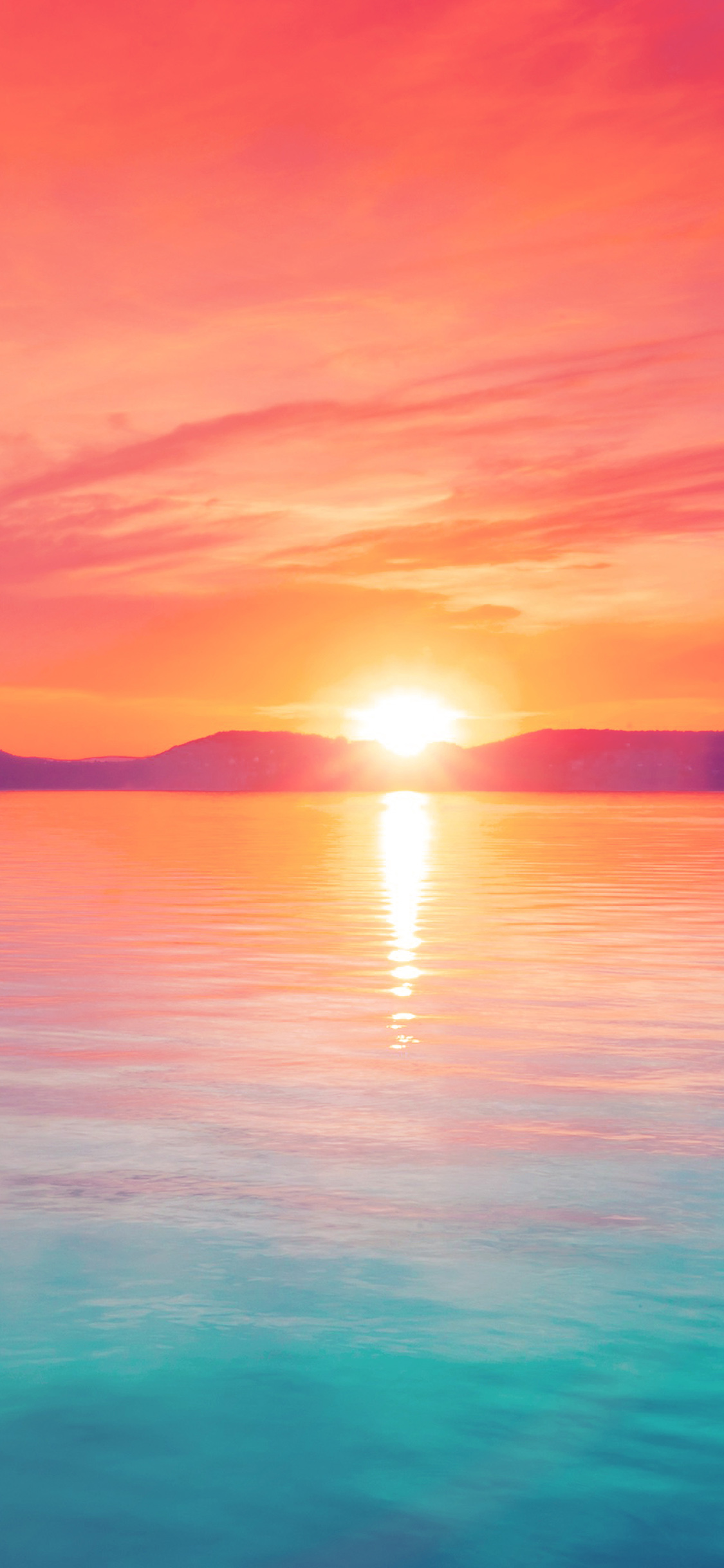 Mq41 Sunset Night Lake Water Sky Red Flare Papers Co
